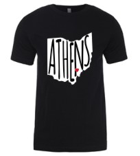 Athens Love - Black Tee